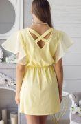 Летнее платье с открытой спиной и перекрестными лямками.
