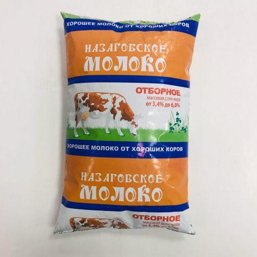 Молоко Назаровское Отборное паст. 3-6% п/п 0,9л