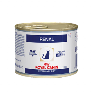 Влажный ветеринарный корм для кошек Royal Canin Renal Chicken (Ренал с цыпленком мусс) 195г.