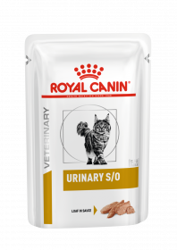 Влажный ветеринарный корм для кошек Royal Canin Urinary S/O Loaf (Уринари С/О паштет) 85г.