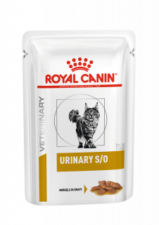 Влажный ветеринарный корм для кошек Royal Canin Urinary S/O (Уринари С/О соус пауч) 85г.