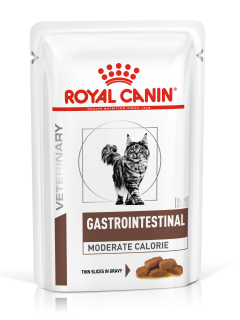Влажный ветеринарный корм для кошек Royal Canin Gastrointestinal Moderate Calorie (Гастроинтестинал Модерат Калори пауч) 85г.