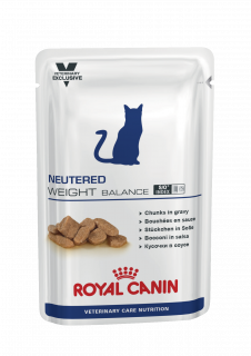 Влажный ветеринарный корм для кошек Royal Canin Neutered Weight Balance (Ньютрид Вэйт Баланс пауч) 85г.