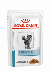 Влажный ветеринарный корм для кошек Royal Canin Skin & Coat Formula (Скин энд Коат пауч) 85г.