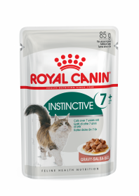 Влажный корм для кошек Royal Canin Instinctive 7+ Gravy (Инстинктив 7+ в соусе) пауч 85г.