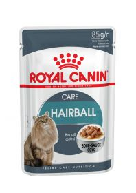 Влажный корм для кошек Royal Canin Hairball Care (Хэйрболл кэа в соусе) пауч 85г.