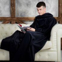 Одеяло-плед с рукавами Snuggle (Снагги), чёрный