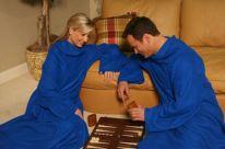 Одеяло-плед с рукавами Snuggle (Снагги), синий