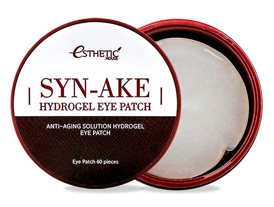 Гидрогелевые патчи для кожи вокруг глаз со змеиным ядом Esthetic House Syn-Ake Hydrogel Eye Patch