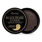 Гидрогелевые патчи для век с экстрактом чёрного жемчуга и золота Esthetic House Black Pearl & Gold Hydrogel Eye Patch