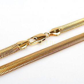 """Позолоченный браслет""""Змейка"""", 5 мм (арт. 2501691)"""