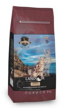 ЛАНДОР для кошек Хэйрбал Беззерновой Ягненок с Бататом (LANDOR HAIRBALL&WEIGHT CONTROL)