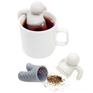 Силиконовое ситечко для заваривания чая Человечек