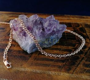 Позолоченный браслет, элегантное плетение, 3 мм (арт. 2502261)