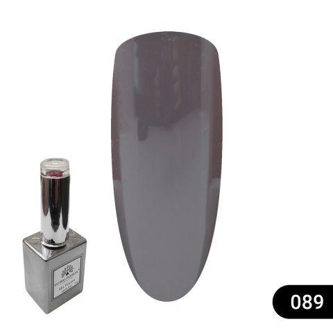 Гель лак Global Fashion 15 мл серебряный флакон 089