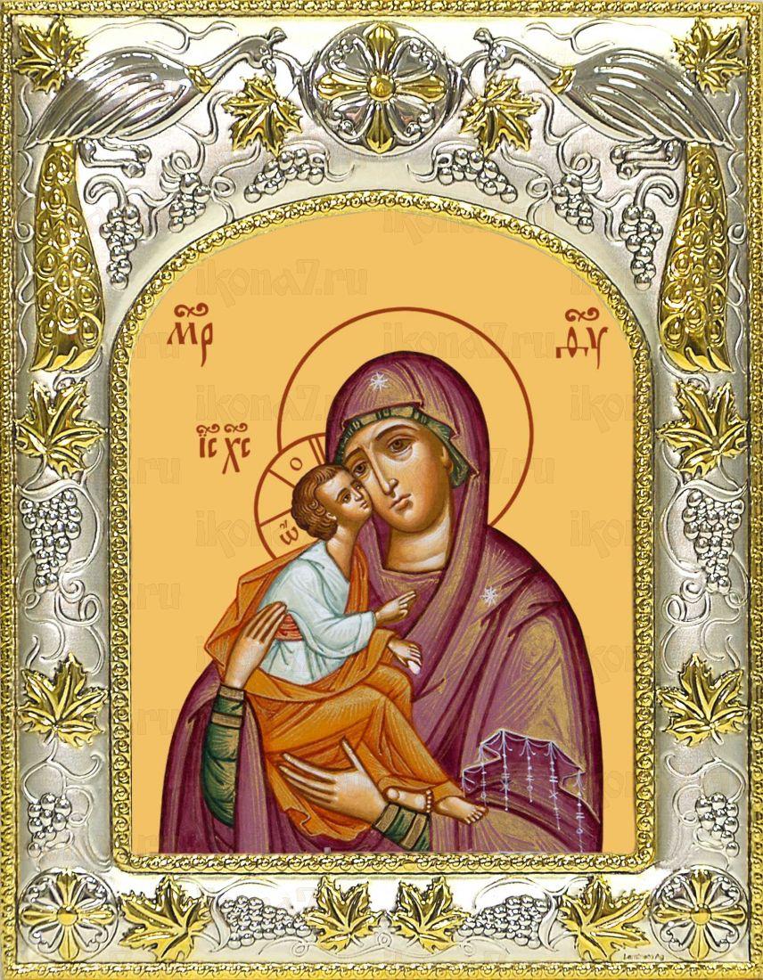 Акафистная икона Божией Матери (14х18)