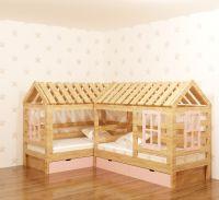 Кровать Домик угловой Simple Мансарда №16 (для двоих детей)