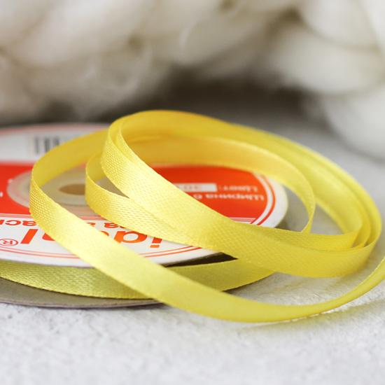 Лента атласная желтая 6 мм