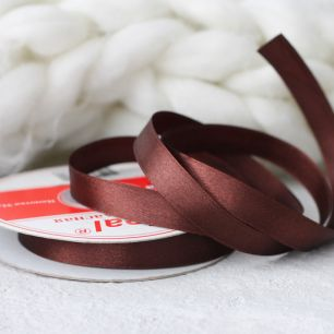 Лента атласная 12 мм Шоколадная