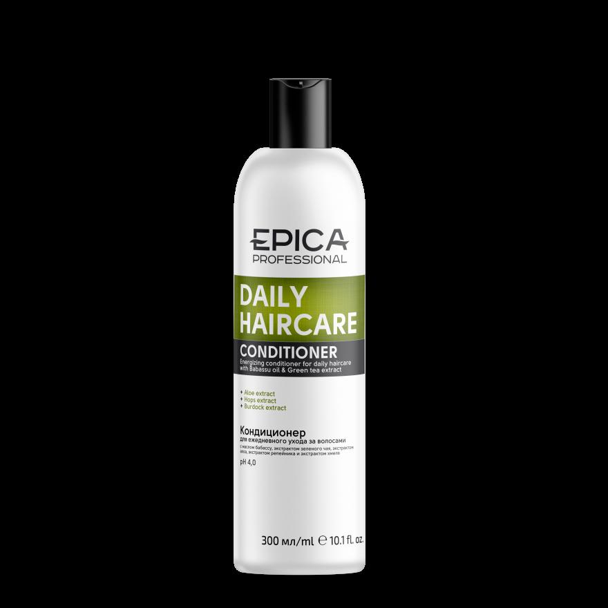 ЭПИКА Daily Care Кондиционер для ежедневного  ухода, с маслом бабассу и экстрактом зеленого чая,300 мл