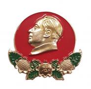 Знак (значок) Мао Цзедун. Китай. Легкий. Большой. Эмаль №8