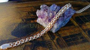 """Позолоченный браслет, плетение """"бисмарк"""", 5 мм (арт. 250270)"""