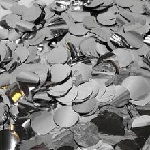 Конфетти фольга, кружки, серебро, 50 гр, 1 см