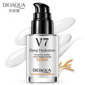 База под макияж с дозатором на витаминной основе V7 для придания синия коже Bioaqua