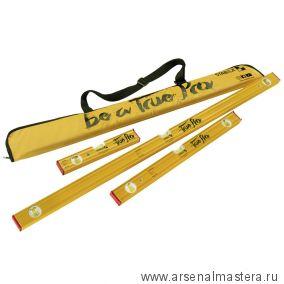 Набор уровней 3 шт тип 80AS 30, 60, 100 см ПЛЮС брелок в сумке для ватерпаса STABILA 19582