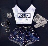 "Пижамка ""Police"" шёлк"