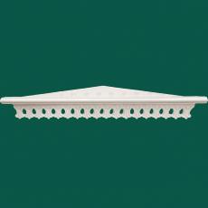Угловая ажурная полка для икон (белая)