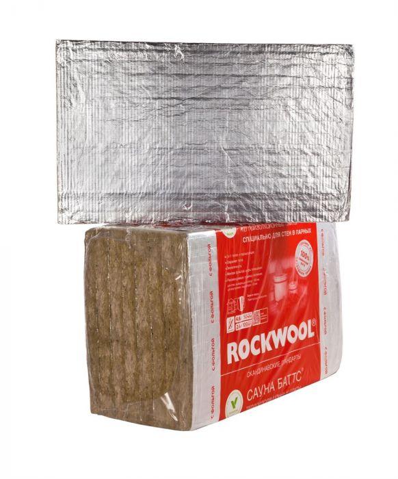 Минеральная вата Rockwool Сауна Баттс 1000х600 толщина 50 мм (8 плит в упаковке)