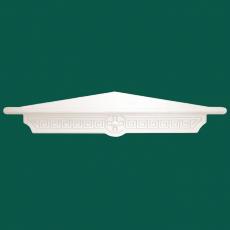 Угловая одноярусная полка для икон греческая (белая)