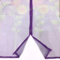 Дверная антимоскитная сетка с рисунком на 7 магнитах-птичках, 100х210 см, фиолетовый
