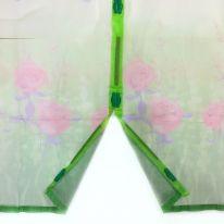 Дверная антимоскитная сетка с рисунком на 7 магнитах-птичках, 100х210 см, зелёный