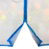 Дверная антимоскитная сетка с рисунком на 7 магнитах-птичках, 100х210 см, синий