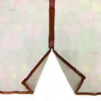 Дверная антимоскитная сетка с рисунком на 7 магнитах-птичках, 100х210 см, коричневый
