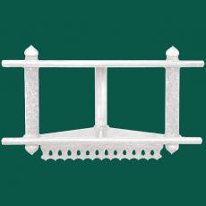 Двухъярусная угловая полка для икон ажурная (белая)