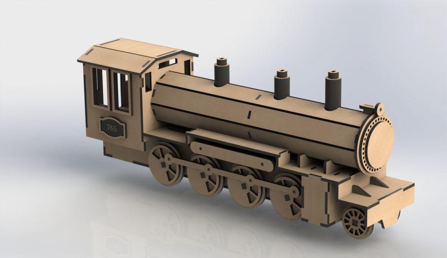 Локомотив из дерева