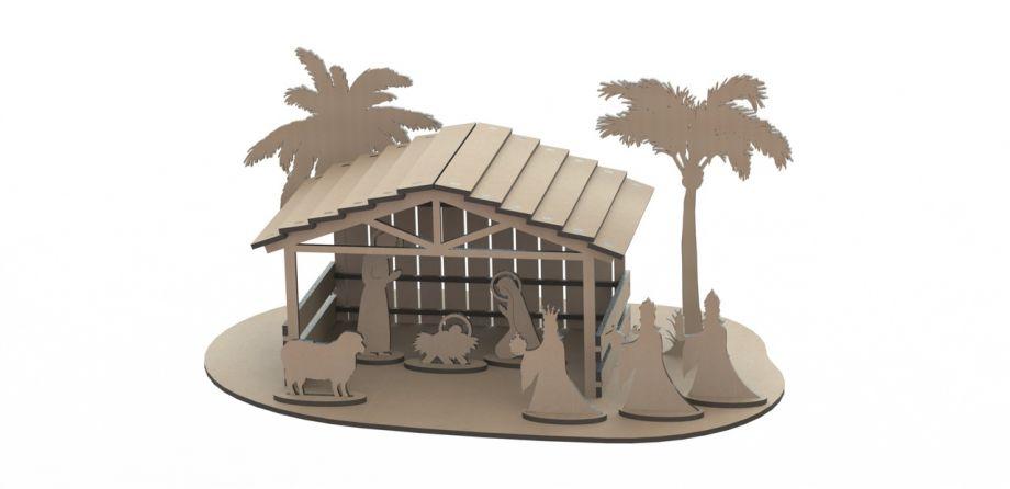 Дом в пустыне из дерева