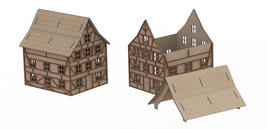 Дом со съемной крышей из дерева