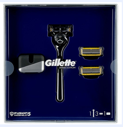 Gillette Fusion ProShield FlexBall станок с 3 кассетами + подставка Limited Edition