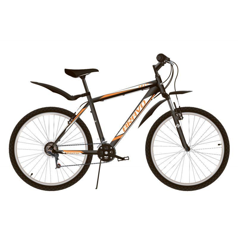 """Велосипед BRAVO Hit 26 D Черный/белый/оранжевый 18"""" (H000016627)"""