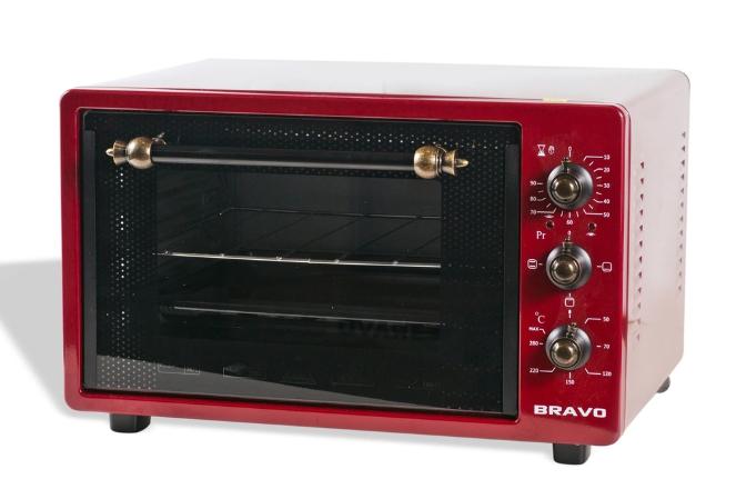 Мини-печь BRAVO FO-36RR Красная