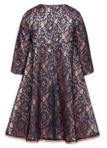 Пышное платье для девочки розово-синее