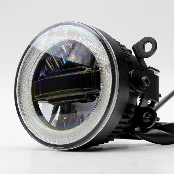 Врезная противотуманная светодиодная фара с ДХО 20W (комплект 2 шт.)