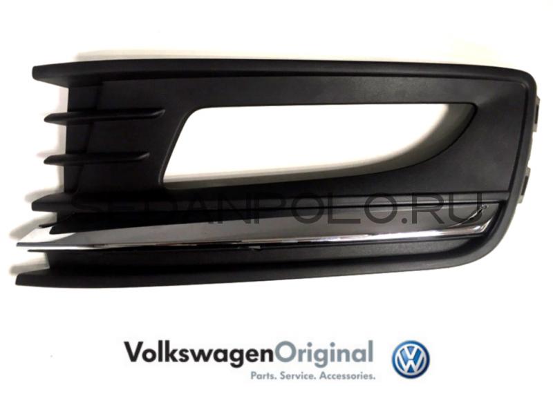 Облицовка ПТФ левая VAG Хром Volkswagen Polo Sedan