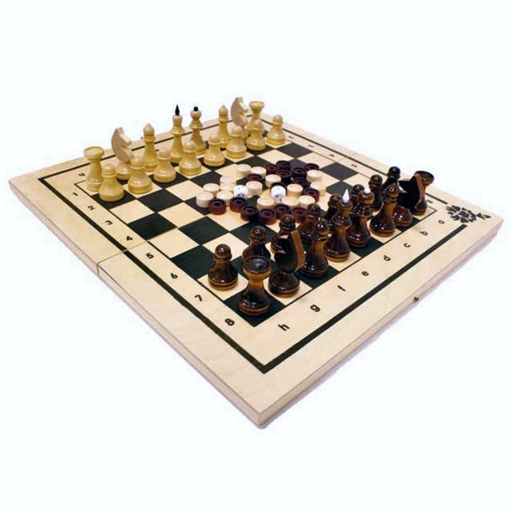 "Игра 2 в 1 ""Шахматы, нарды"" арт.Шк-2 (400*210*35)"