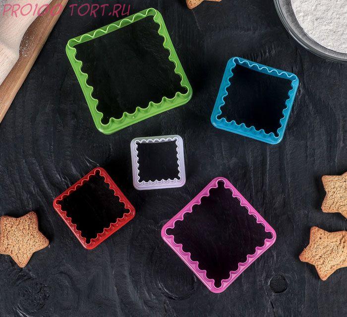 Формы для печенья, 5 шт, цвет МИКС