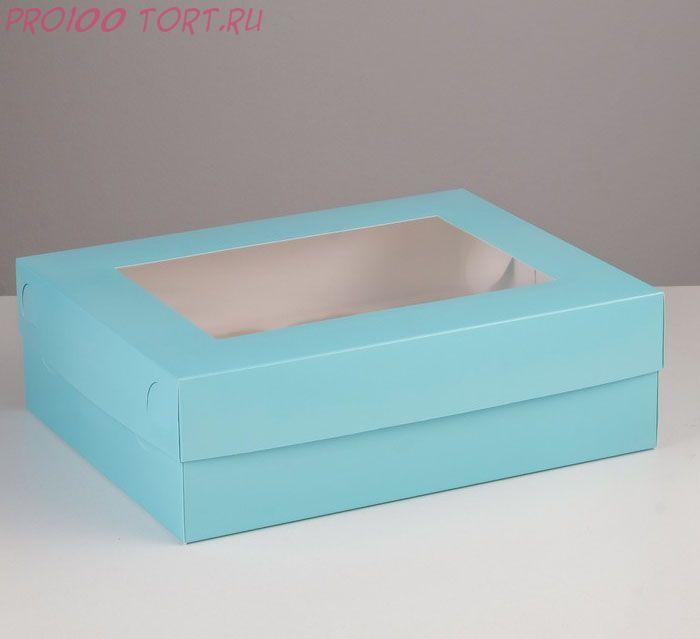 Коробка для капкейков, 32,5 х 25,5 х 10см, на 12  капкейков, с окном